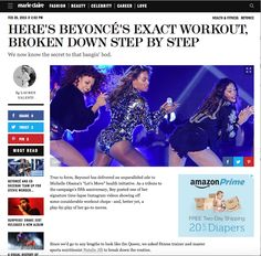 Natalie Jill breaks down Beyonce Instagram workout for Marie Claire Magazine---So flattered that Marie Claire magazine asked me to break down the Beyonce instagram workout that went viral! See the bodyweight moves that Bey uses to g..