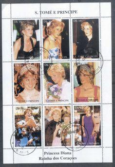 Sao Tome et Principe 1998 Princess Diana In Memoriam sheetlet CTO