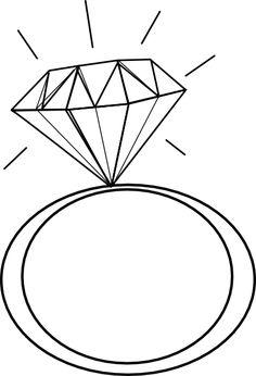 engagement ring outline clip art 2 pinteres rh pinterest com clip art ringing phone clip art ring toss