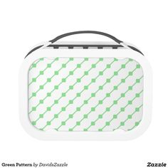 Green Pattern Lunch Box Available on many more products! Type in the name of this design in the search bar on my Zazzle products page!   #abstract #art #pattern #design #color #accessory #accent #zazzle #buy #sale #kitchen #dining #home #decor #entertain #serving #guest #food #foodie #apartment #dorm #student #accent #living #modern #chic #contemporary #style #life #lifestyle #minimal #simple #plain #minimalism #square #line #white #green