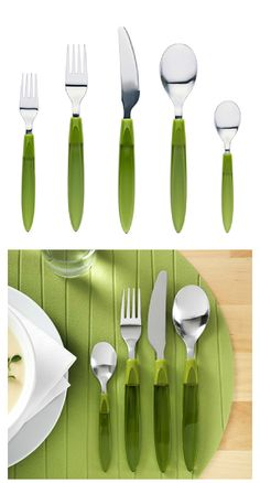 Create a colorful place settling with DITO flatware. Comes in a 20 piece set!