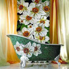 Luxurious Mosaic Tiles Sicis floral decoration