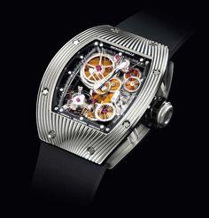 "The Watch Quote: Richard Mille creates a unique timepiece, the RM 018 tourbillon wristwatch ""Hommage à Boucheron"" in celebration of Boucheron's founding in 1858"
