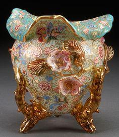 Bohemian glass vase, 1900