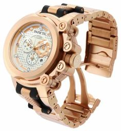 Invicta Mens Coalition Force Trigger Swiss Chronograph Rose Gold & White Watch w/ 3 Bands 11663 Invicta Coalition Forces, Rolex Presidential, Luxury Watches For Men, Unique Watches, Expensive Watches, Mens Gear, Beautiful Watches, Chronograph, Rose Gold