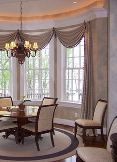 62 Best Bay Window Treatments Images In 2019 Blinds Rh Com Dining Area Windows Room Valance Ideas