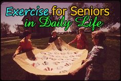 Exercise for Senior Citizens, daily life. Healthy, active, happy life.