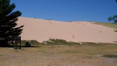 Sleeping Bear Dune Climb - Glen Arbor, MI ~try to take the kids here each visit.  This picture is just the first hill, once you get up to the top of this there are more hills!  But the views at the tops are amazing no matter which direction you choose to go