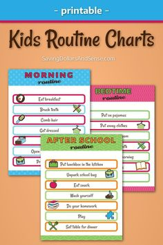 One of the ways that you can be sure that your kids have the most successful school year yet is by teaching them how to live with simple daily routines that will help everyone stay on track in all areas of their lives all year long. Even choosing just one of the kids printable daily routine charts to put into practice will allow for much easier life for everyone, even on the most hectic of days!