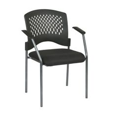 OFD Stack It Seating 8610-30 Titanium Finish Visitors Chair with Arms and Plastic Back #office #chair #stackchair