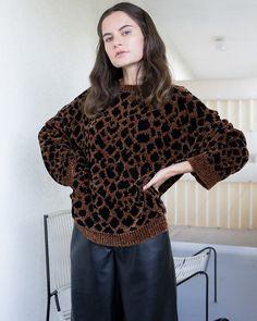 #Nanushka TEDDY - Knit sweater - Ocelot