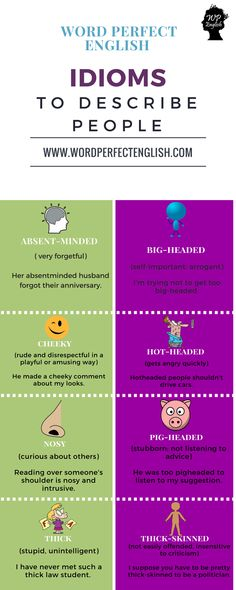 Idioms to Describe People 1/2