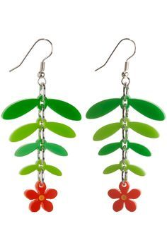 Mexican Flower Drop Earrings - Spring/Summer 2012 - By collection - By  product - Shop. Tatty Devine ...
