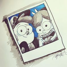 """Day 15: """"mysterious."""" I doodled my favorite Mystery busters! Mabel and Dipper Pines from Gravity Falls. #doodle #inktober #inktober2017 #art #gravityfalls #disney"""