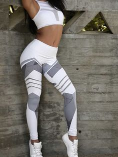 Geometric Print High Waist Yoga Leggings - TD Mercado Basic Leggings, Leggings Are Not Pants, Printed Leggings, Workout Leggings, Women's Leggings, Leggings Style, Cheap Leggings, Black Leggings, High Waisted Workout Pants