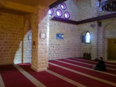 In the prayer hall