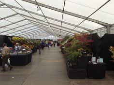 The exhibition centres were large with lots to see @HarrogateFlower
