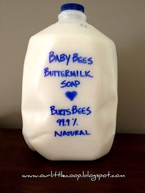 Our Little Coop: Burt's Bees Baby Bee Liquid Soap Recipe- from bar to liquid
