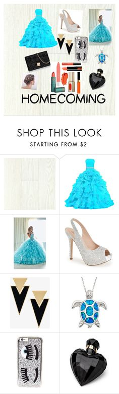 """""""homecoming🙊🙉🙈"""" by haileyej ❤ liked on Polyvore featuring Tiffany Designs, Lauren Lorraine, Christian Dior, Yves Saint Laurent, Chiara Ferragni and Lipsy"""