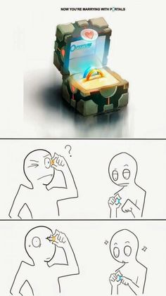 Funny pictures about Portal Rings Could Be Dangerous. Oh, and cool pics about Portal Rings Could Be Dangerous. Also, Portal Rings Could Be Dangerous photos. Stupid Funny, Funny Cute, The Funny, Funny Jokes, Hilarious, Funniest Memes, Bazar Bizarre, Rage Comic, Gaming Memes