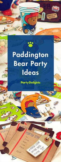Find all the inspiration you need for an adorable Paddington Bear party including marmalade sandwiches and printable suitcase-shaped invitations! Perfect for children's birthday parties and 1st birthdays. Visit partydelights.co.uk to pick up all the cute party supplies featured in this blog.