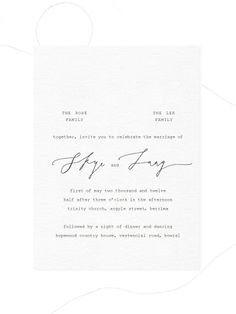"such a simple invitation, very chic. Love the ""The Ombres Family,"" and ""The…"