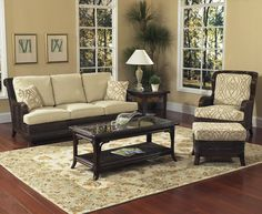 Windsor Rattan and Wicker Sunroom Set from Classic Rattan