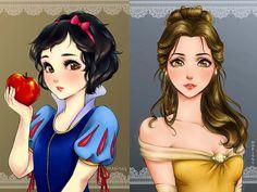 Disney Princess Art, Disney Art, Alternative Disney Princesses, Anime Version, Princesas Disney, Disney Girls, Manga Anime, Disney Characters, Fictional Characters