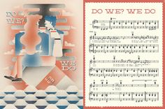 Sample sheet music from Beck's 'Song Reader' album to be released in December entirely in sheet music form.