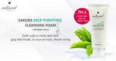 Sữa rửa mặt trị mụn cho da nhờn Sakura Deep Purifying Cleansing Foam