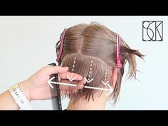 GRADUATED BOB WITH ASYMMETRY - by SCK - YouTube Short Stacked Hair, Layered Bob Short, Hair Cutting Videos, Hair Videos, Hair Color Swatches, Graduated Bob Hairstyles, Angled Bobs, How To Cut Your Own Hair, Corte Bob