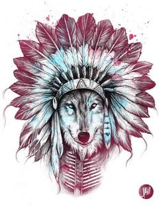 Chief Wolf by JAVI, via Behance