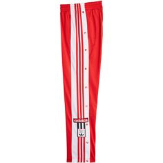 Adidas Originals Adibreak Snapped Track Pants (7710 RSD) ❤ liked on Polyvore featuring activewear, activewear pants, red, retro sportswear, adidas originals and track pants