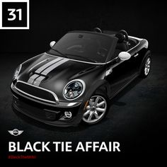 This MINI Roadster is dressed to the nines to ring in the new year. But don't let the formal look fool you; this MINI is more Bond than butler. #DeckTheMINI