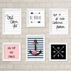 Diy Home Decor Bedroom, Home Decor Wall Art, Enjoy The Little Things, Girl Room, Wall Prints, Decoration, Diy And Crafts, Projects To Try, Gallery Wall