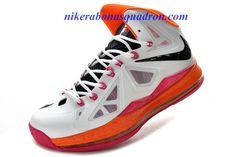 brand new 3fea0 14586 Nike Lebron 10 White Miami Floridians 541100 108 for sale
