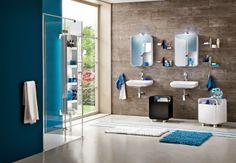 Casa de banho em tons de azul
