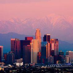 Erlebt die Stadt der Engel bei Sonnenuntergang  #losangeles_la #kalifornien #usa #grossstadt #sonnenuntergang…