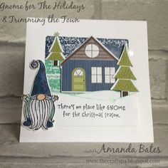 My First Christmas, Christmas Gnome, Stampin Up Christmas, Christmas Cards, Christmas Decorations, Paper Craft Making, Christmas Catalogs, Christmas Settings, Stamping Up