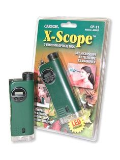 X-Scope 7 Function Optical Tool: Microscope, Telescope, Magnifier - Astronomy and Space - Science Toys, Kits, & Gifts