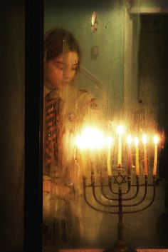 Shining bright on the last night of Hanukkah....