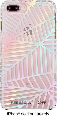Incipio - Rebecca Minkoff Double Up Case for Apple® iPhone® 7 Plus - Geometric Wall Clear/Holographic Foil