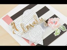 Wonderful Women - Easy Foiling Technique and word die cutting tip - YouTube