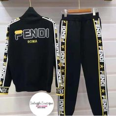 LUXURY 2 PIECE Swag Outfits Men, Nike Outfits, Casual Outfits, Fashion Outfits, Fendi Clothing, Hype Clothing, Fendi Sweater, Fashion Brand, Mens Fashion