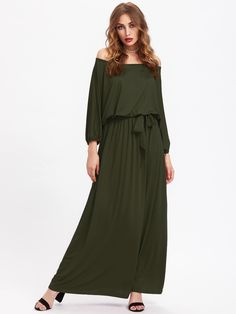Shop Bardot Self Tie Full Length Dress online. SheIn offers Bardot Self Tie Full Length Dress & more to fit your fashionable needs.