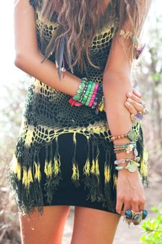 Boho Baubles with Crochet Top