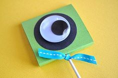 Eyeball lollipop covers - great for the 3rd grade monster theme IF we are allowed to give them out in school