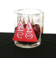 Delta Earrings Custom Earrings, Wine Glass, Tableware, Dinnerware, Tablewares, Dishes, Place Settings, Wine Bottles