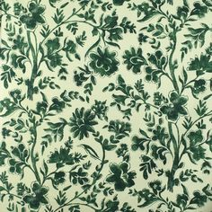 S2874 Woodland Green Fabric, Floral Fabric, Floral Prints, Floral Patterns, Greenhouse Fabrics, Chintz Fabric, Art Deco Home, Green Accents, Fabulous Fabrics