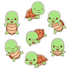 Cute Turtles, Cartoon Styles, Illustration, Poses, Comics, Fictional Characters, Figure Poses, Illustrations, Cartoons